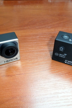 GoPro Hero 4 Black vs. Zamiennik Orllo SJ6000