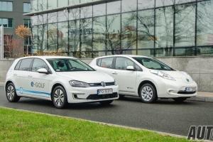 Volkswagen e-Golf i Nissan Leaf - test, opinia, cena