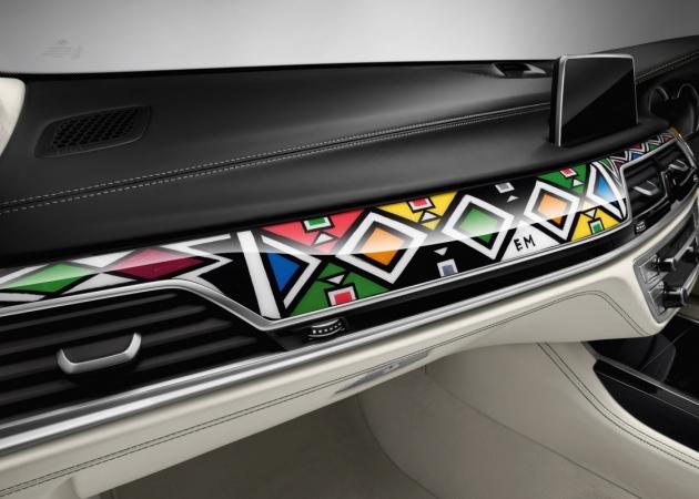 Wnętrze BMW Serii 7 stworzone przez 81-letnią artystkę z Afryki