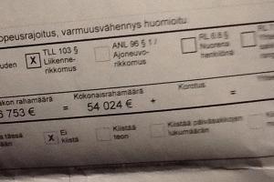 50,000 € mandatu za przekroczenie prędkości o 20 km/h