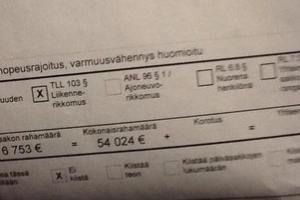 Mandat w wysokości 54 024 euro za drobne przewinienie!